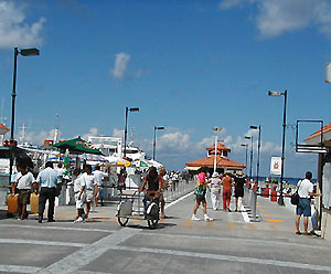 The pier on Cozumel's western shore