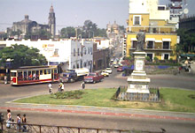 View of Cuernavaca's central ciruculation