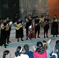 Rondalla infront of teather