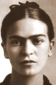 Early portrait photo of Frida Kahlo