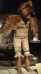 Aztec Warrior and standard bearer, Templo Mayor