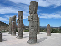 The Atlantes of Tula, Hidalgo, Central Mexico