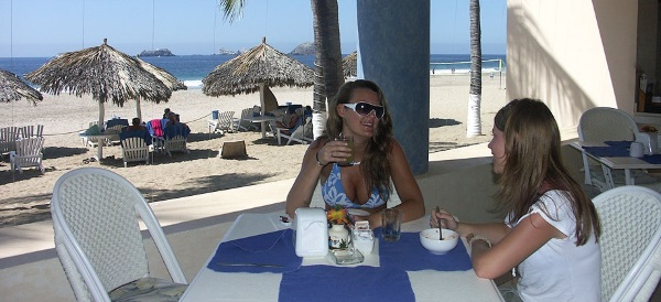 Breakfast on the beach at Posada Real