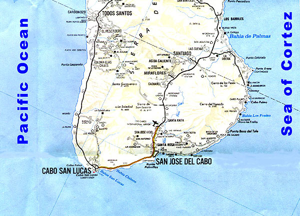 Area map for Cabo San Lucas