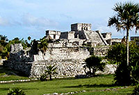 The main castle ruin of Tulum