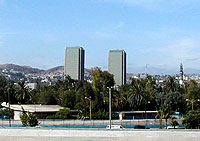 The towers of Tijuana's largest hotel